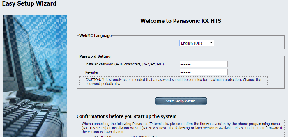 hướng dẫn cài đặt tổng đài Ip Panasonic HTS824 (2)
